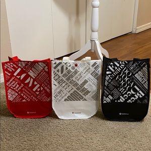 Lululemon reusable tote bag bundle
